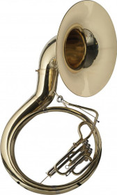 Levante Bbb Sousaphone 3 Valves W/Abs Case On Wheels Gold Lacquer Lv-Mb4705
