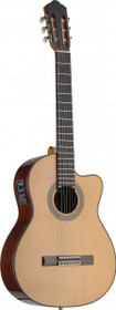 4/4 Acoustic-Electric Nylon String Classical Guitar Solid Spruce Top Fishman