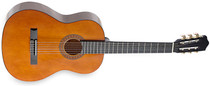 STAGG 4/4 size Classical Highgloss Dark Brown Nylon String Guitar w Spruce Top