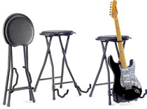 STAGG Foldable Stool With Built In Guitar Stand of Height 64.5cm /25.4 in
