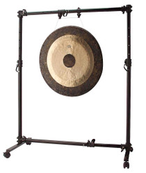 "STAGG Black Adjustable Stand For Gong From 15"" Up To 38"" On Wheels"
