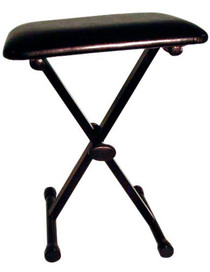 STAGG Black Height Adjustable Keyboard Bench with X Folding Legs