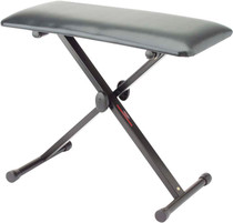 STAGG 3 Positions Height Adjustable Black Keyboard Bench w/X Folding Legs