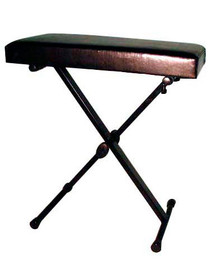 STAGG Adjustable Height Black Vinyl Keyboard Bench with X Folding Legs