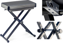 STAGG Keyboard Bench with Adjustable X Folding Legs Plus Safety Lock