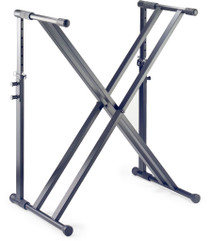 STAGG Black Double X-Shaped Steel Keyboard Stand