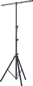 STAGG Metallic Black Single Tier Heavy Lighting Stand