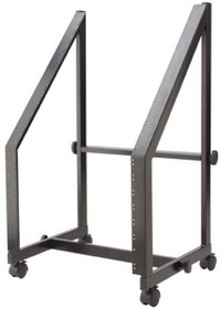 "Stagg 20 Space Rolling Steel 19""/13U+7U Rack Trolley For Power Amps And Mixers"