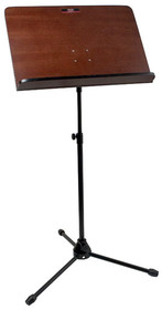 STAGG Orchestral Music Stand With Wooden Music Rest and Steel Legs