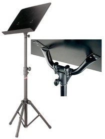 STAGG Black Basic Orchestral Music Stand with Metal Music Rest