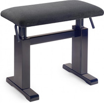 Stagg Rosewood Hydraulic Piano Bench W/ Black Velvet Top Adjustable Height