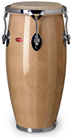 """STAGG 9"""" Lacquered Portable Conga with Natural Wood Body Plus Nylon Strap"""
