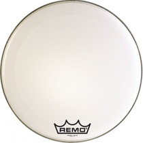 "28"" Powermax Ultra White Marching Bass Drum Head 7.5-Mil Floating Muffling Ring"