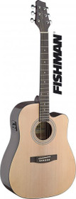 Stagg Dreadnought Acoustic-Electric Cutaway Steel String Guitar Fishman Natural