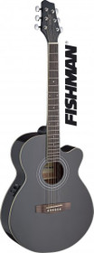 Stagg Mini-Jumbo Acoustic-Electric Cutaway Concert Guitar W Fishman Preamp Black
