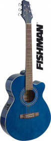 Stagg Mini-Jumbo Acoustic-Electric Cutaway Concert Guitar W Fishman Preamp Blue