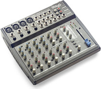 STAGG Multi-channel stereo mixer w/ 2-4 mono & 2-4 stereo input channels + DSP