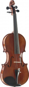 3/4 Hand-Varnished Handcrafted Solid Flamed Maple Violin W/ Deluxe Soft-Case