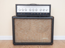 Silvertone 1484 Twin Twelve Tube Amplifier Head and 2x12 Cab (reverb not working) with original Jensen C12Q C7506 2 Speakers (built in 1963 going by speaker date codes)