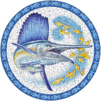 Large Mosaic Sailfish