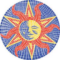 Large Mosaic Sun