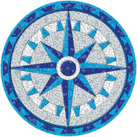 Medium Mosaic Compass