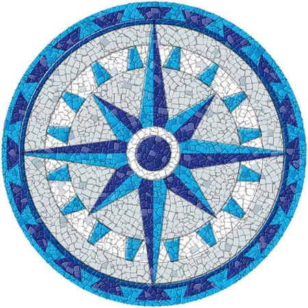 Medium Mosaic Compass