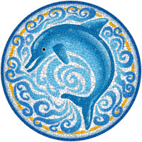 Medium Mosaic Single Dolphin