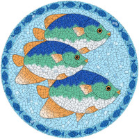 Medium Mosaic Tropical Fish