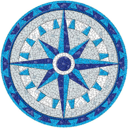 Small Mosaic Compass