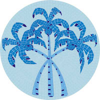 Small Mosaic Palm Trees