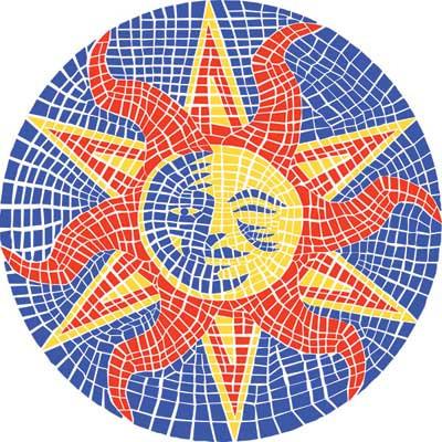 Small Mosaic Sun