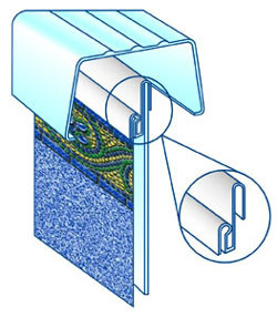 Bead Receiver - For Beaded/Hung Above Ground Pool Liners