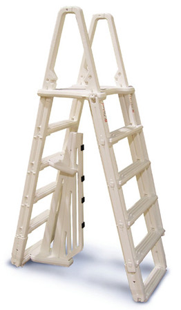 Premium A-Frame Above Ground Pool Ladder - Taupe (NE120T)