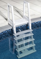 Deluxe Heavy-Duty Deck Mount Above Ground Pool Ladder