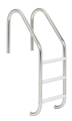 Stainless Steel Inground Pool Ladder - Plastic Treads