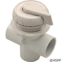 "Waterway Plastics 1"" Vertical Top Access Div. Valve, White - 600-4340"