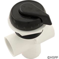 "Waterway Plastics 1"" Vertical Top Access Div. Valve, Black - 600-4341"