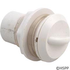 "Waterway Plastics Air Control, Straight Nut, Crescent Handle, 1/2"", White - 660-3300"