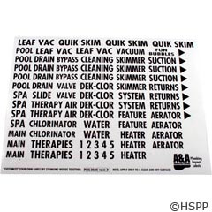A&A Manufacturing Plumbing Labels, A & A Manufacturing - 777704