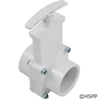 "Valterra Products 1-1/2"" Valve, Sxs, Pvc-White W/Keeper - 6101X"