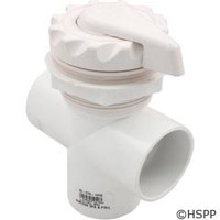 "Waterway Plastics 2"" Scalloped Top Access Div Valve, White - 600-3050"