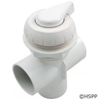 "Waterway Plastics 2"" Notched Top Access Div Valve, White - 600-3060"