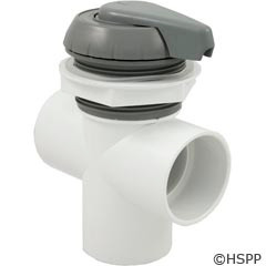 "Waterway Plastics 2"" Notched Top Access Div Valve, Gray - 600-3067"