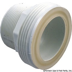 "Waterway Plastics 2"" Mpt Tailpc W/O-Ring For Sol/Split Nut - 417-5140"