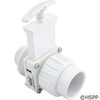 "Valterra Products 1-1/2"" Mpt X S(Un) Single Union Valve, Pvc-White - 6124"