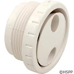 "Waterway Plastics Spa Rotating Therapy Massage Jet 1-1/2"" Mpt-White - 212-9170"