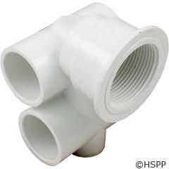 "Waterway Plastics Body, Std Mini Jet, 1""S Air X 1""S Water, T-Body Assy - 222-0020"