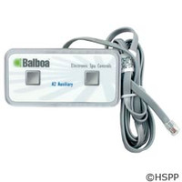 Balboa Water Group Panel, Duplex 2-Button Auxiliary, 6Ft Cord - 51218