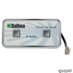 Balboa Water Group Panel,2-Button Auxiliary,W/6-Conductor,18Ft Cord - 51216